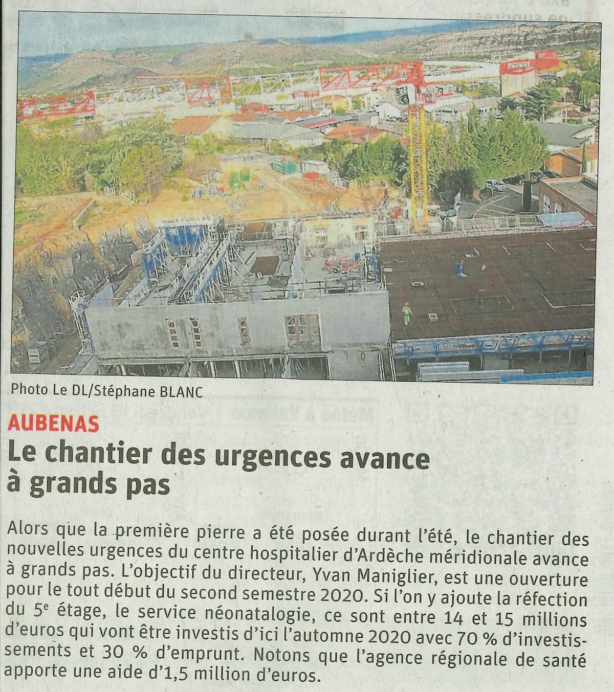Aubenas – Chantier des urgences