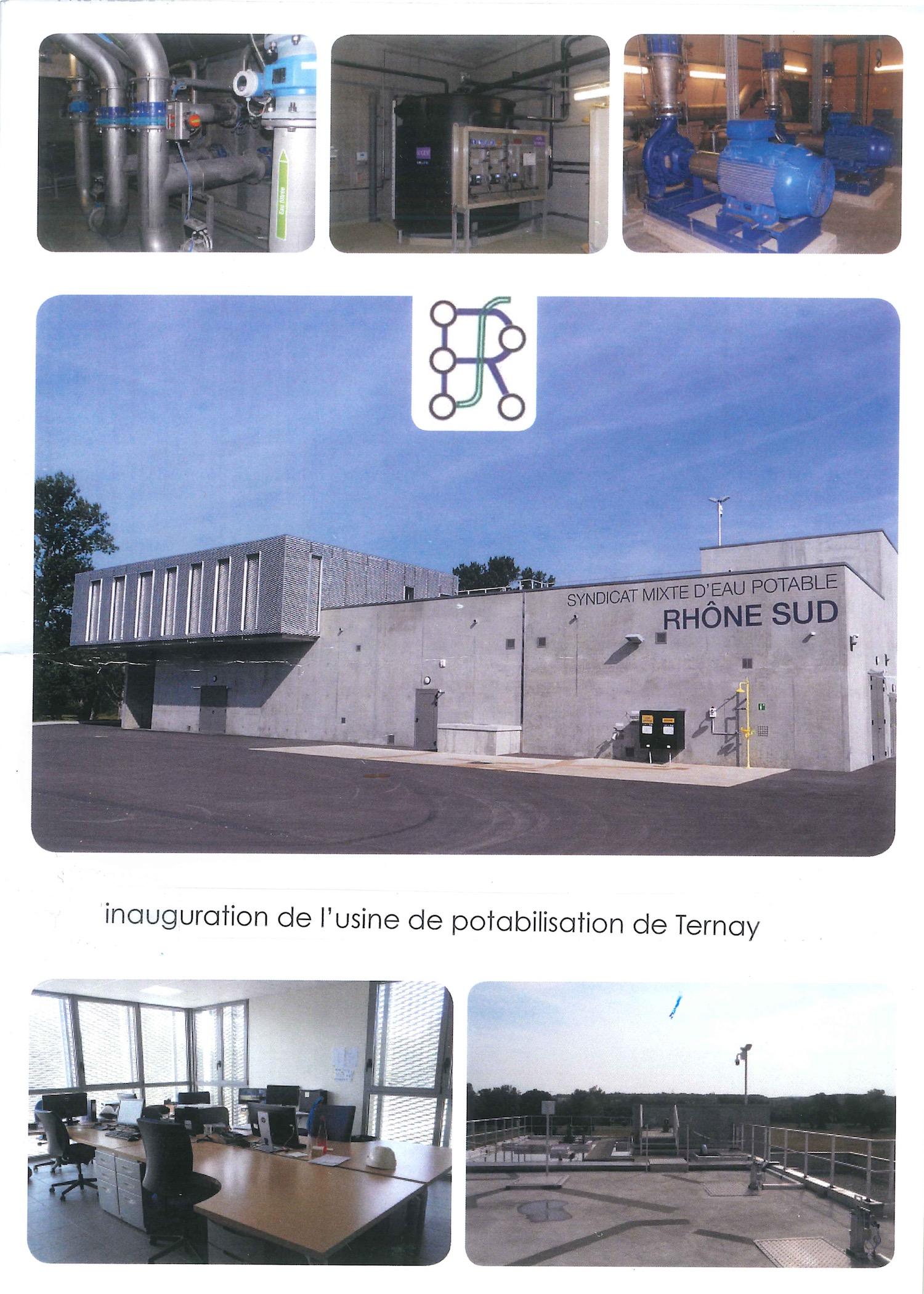 Inauguration de l'usine de potabilisation de Ternay