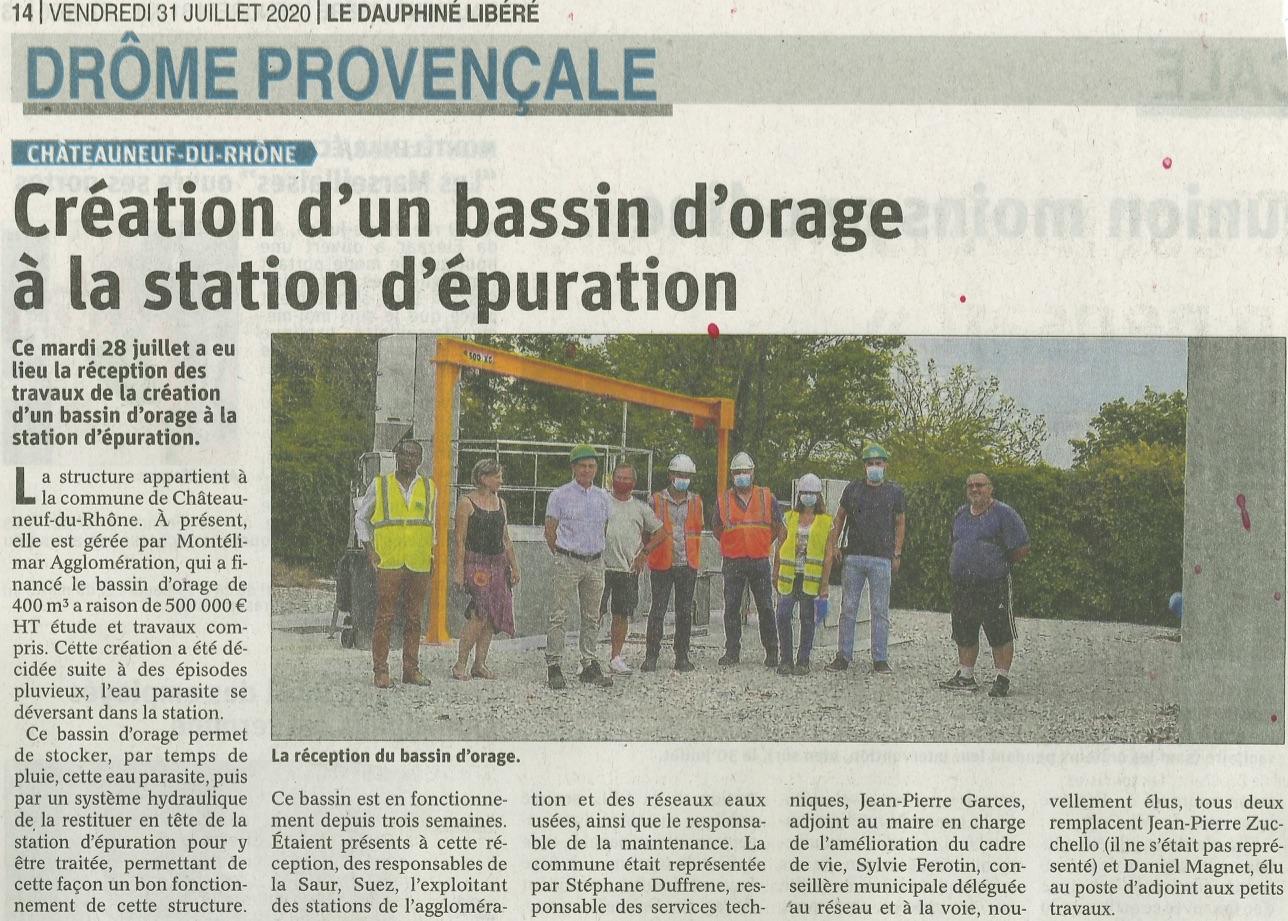 Rivasi Chateauneuf du Rhône : Création d'un bassin d'orage à la station d'épuration