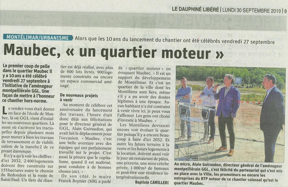 """Montélimar – Maubec """"un quartier moteur"""""""