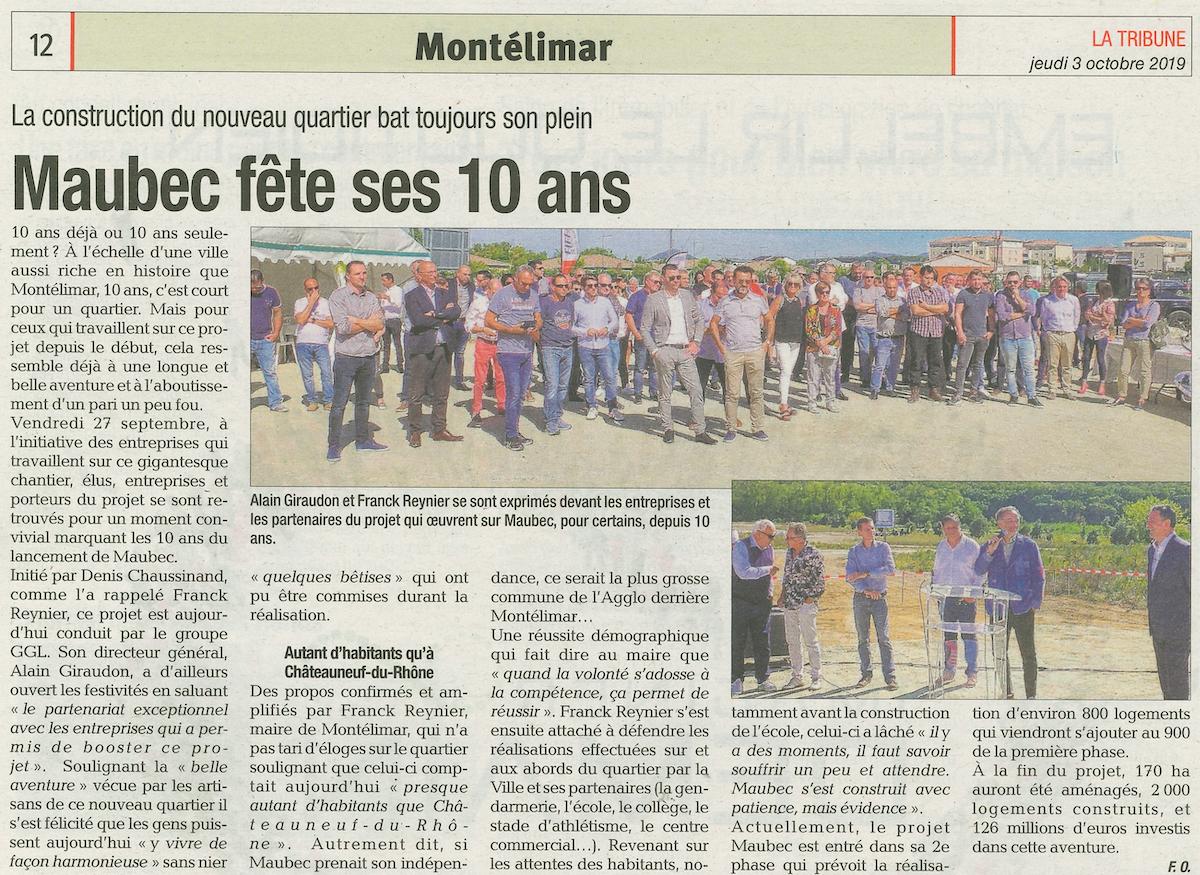 Montélimar – Maubec fête ses 10 ans