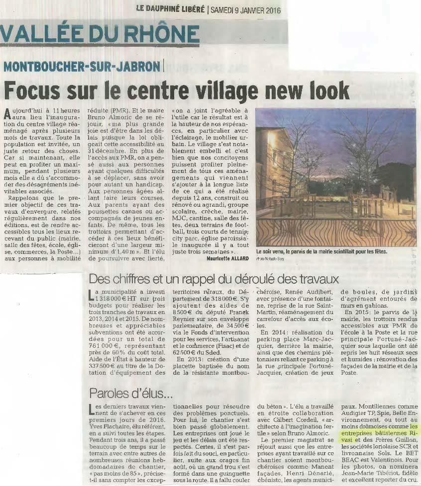 Montboucher sur Jabron – new look